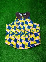 franky grow B.D.R ROUND COLLAR DRESS ピンク*ネイビー*イエローRIBBON