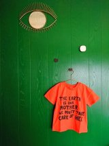 mini rodini MOTHER EARTH T-SHIRT オレンジ