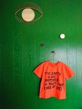 mini rodini MOTHER EARTH T-SHIRT オレンジ