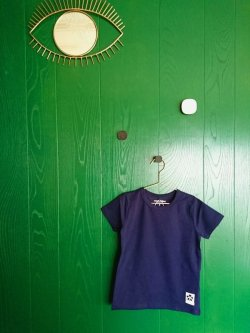 画像1: mini rodini BASIC SS TEE ネイビー
