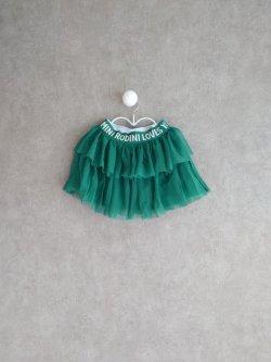 画像1: mini rodini Tulle Skirt グリーン