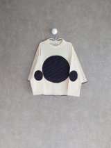 franky grow BEAR QUILTING DOTS PONCHO L/S TEE アイボリー