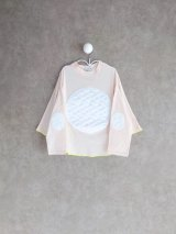 franky grow BEAR QUILTING DOTS PONCHO L/S TEE ソフトピンク