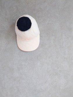 画像1: franky grow BEAR QUILTING CAP + BONBON ピンク