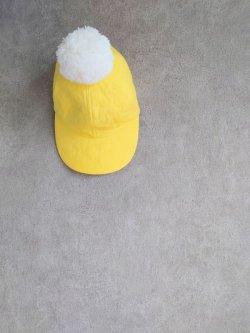 画像1: franky grow BEAR QUILTING CAP + BONBON イエロー