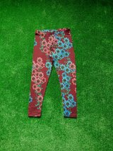 mini rodini DAISY LEGGINGS バーガンディ