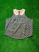 franky grow B.D.R ROUND COLLAR DRESS アイボリー*ブラックDOTS