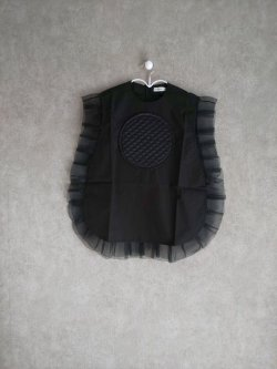 画像1: franky grow QUILTING DOT FRILL DRESS ブラック