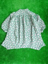 franky grow SOLID BEAR JQ DRESS グレー*グリーンBEAR