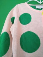 他の写真2: franky grow RANDOM DOTS KNIT CARDIGAN ピンク*グリーンDOTS