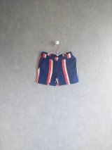 mini rodini STRIPE SWEATSHORTS ブルー