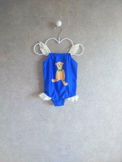 画像1: mini rodini TEDDY BEAR UV SWIMSUIT ブルー