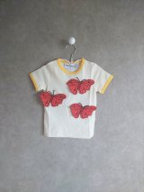 mini rodini BUTTERFLIES T-SHIRT  オフホワイト