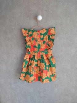 画像2: mini rodini Peonies Woven Ruffle Dress