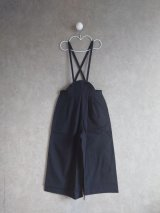franky grow AIRY WADE OVERALLS DYED ブラック  キッズ・レディースサイズ