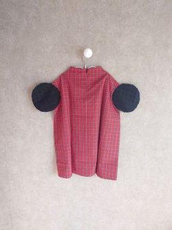 画像2: franky grow BONBON CUT JQ CIRCLE SLEEVES CHECK DRESS レッドCHECK