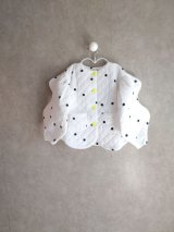 franky grow WAVE CUT SLEEVES QUILTING JACKET ホワイト*ブラックDOTS
