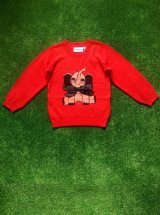 mini rodini ELEPHANT SWEATER レッド