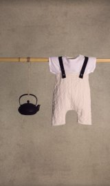 little creative factory  Baby Menka Dungarees チョーク