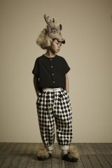 little creative factory  Diamond Trousers ブラック&クリーム