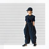 franky grow BONBON CUT JQ GATHER PANTS ネイビー*ホワイト BONBON