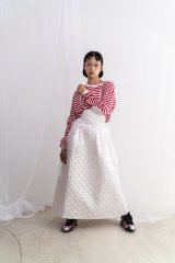 franky grow QUILTING JUMPER SKIRT ホワイト