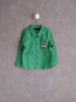 画像1: mini rodini Panda Shirts グリーン